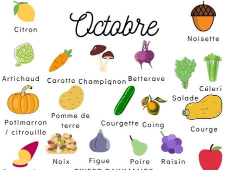 Les fruits et légumes de saison d'automne