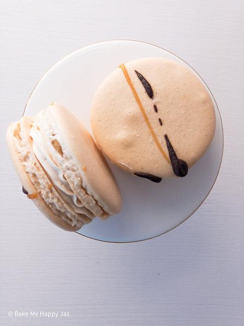 Chocolate Salted Caramel Macarons