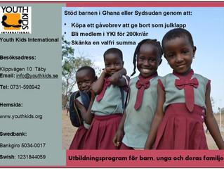 Julgåva till barnen i Ghana eller Sydsudan!
