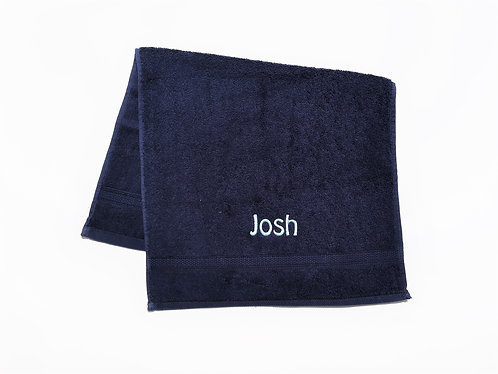 Navy Royal Cotton HAND Towel