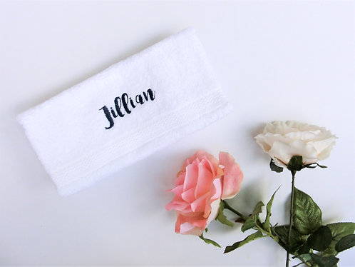 White Royal Cotton HAND Towel