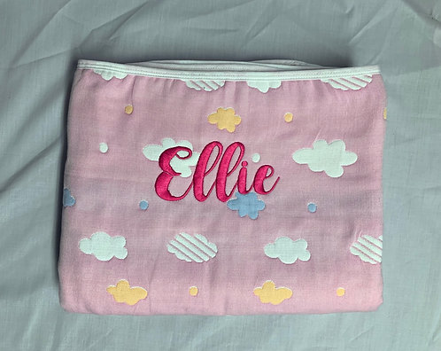 Pink Coloured Clouds Blanket