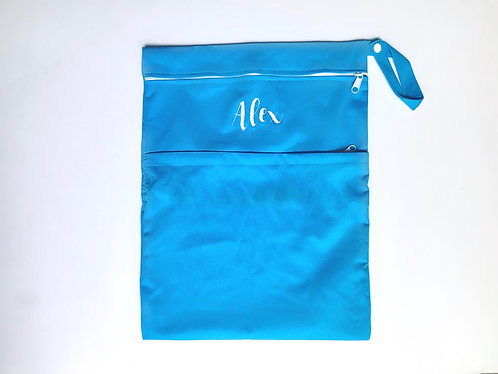 Blue Multi-Purpose Double Zip Wet Bag