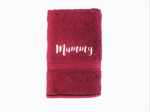 Maroon Royal Cotton BATH Towel