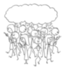 vector-cartoon-set-crowd-people-walking-