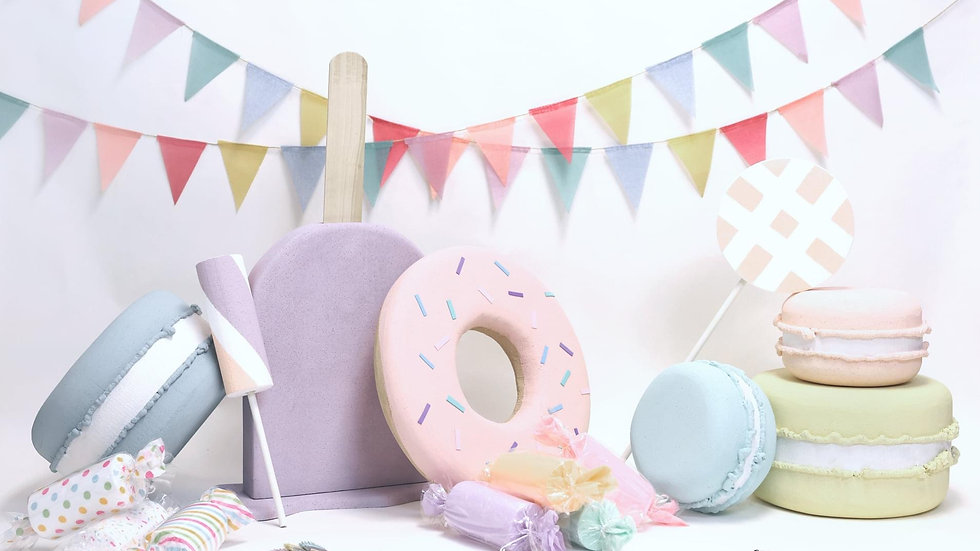Giant Candyland Props, cookies. lollipops, candy