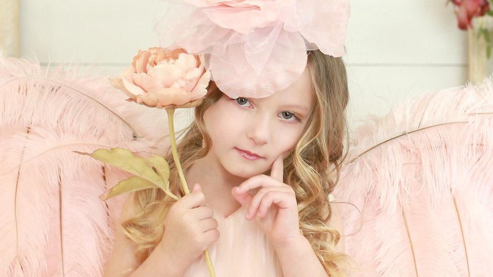 Velvet Rose Millinery Flower Fascinator Headpiece/Clip
