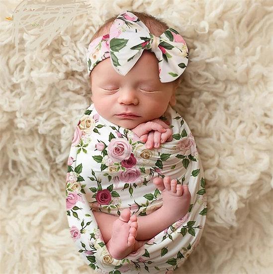Newborn floral wraps/headbands
