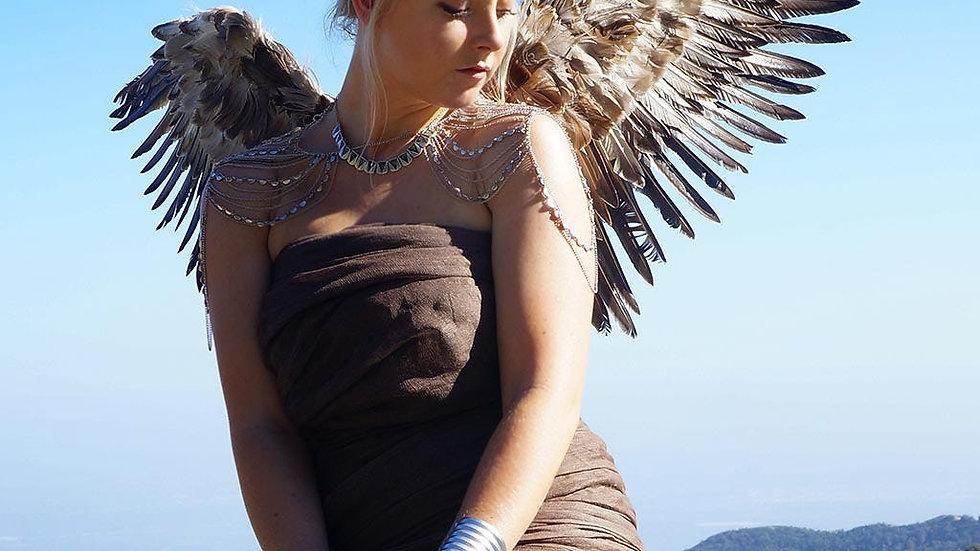 ADULT MOCKINGBIRD LARGE WINGS COSTUME -  ANGEL FAIRY COSPLAY HALLOW