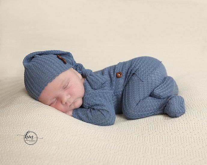 Newborn pajama suits/hats