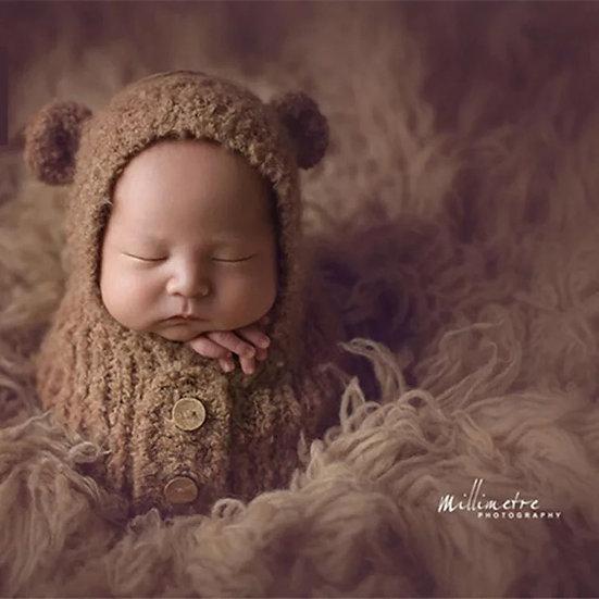 Newborn wrap/sack hooded