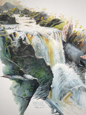 Rumbling Bridge Waterfall, River Braan