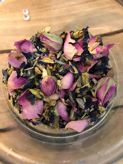 Close up of Cup of Love Blend   Celestial Bliss Holistic Teas