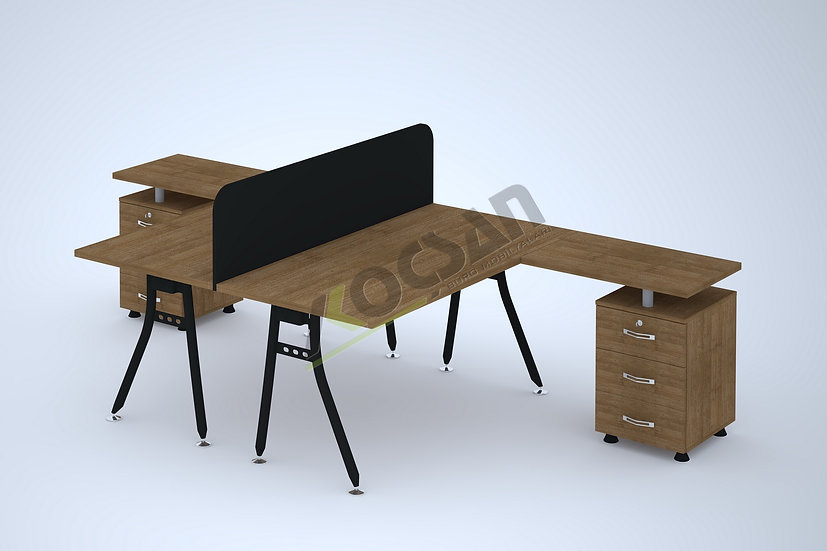 Yonca Workstation 2'li Çoklu Çalışma Masası