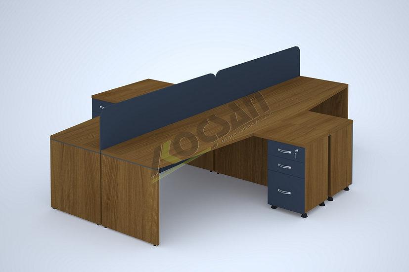 Master Workstation 4'lü Çoklu Çalışma Masası