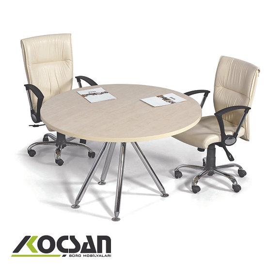 Efor Metal Ayaklı Yuvarlak Toplantı Masası