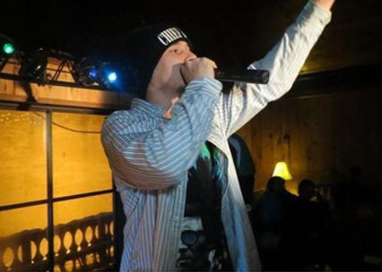 "Rap Artist J.D. ""The Chief performing live at a show!"