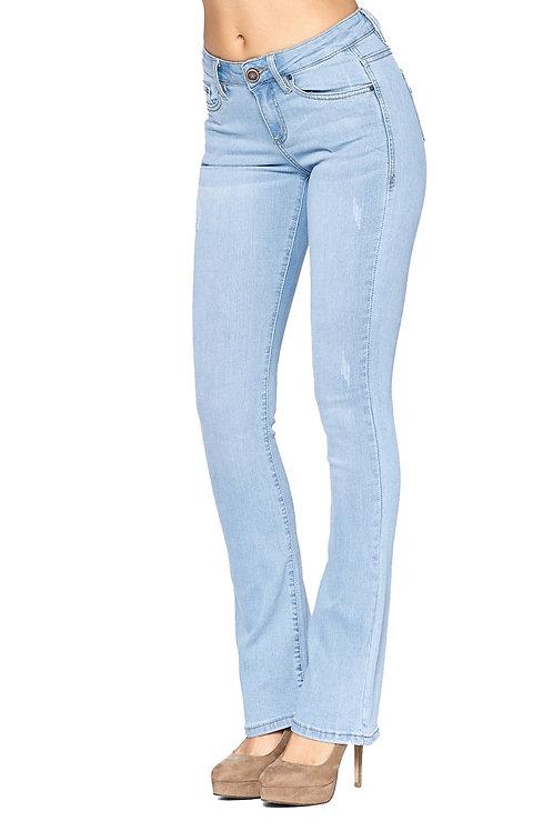 Light Wash Straight Leg Denim Jean