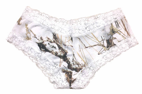 Women's Booty Lace Boy Shorts Authentic True Timber Lingerie Camo Panties
