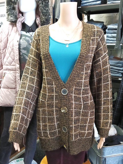 Oversize Large Button Cardigan w/ Pockets