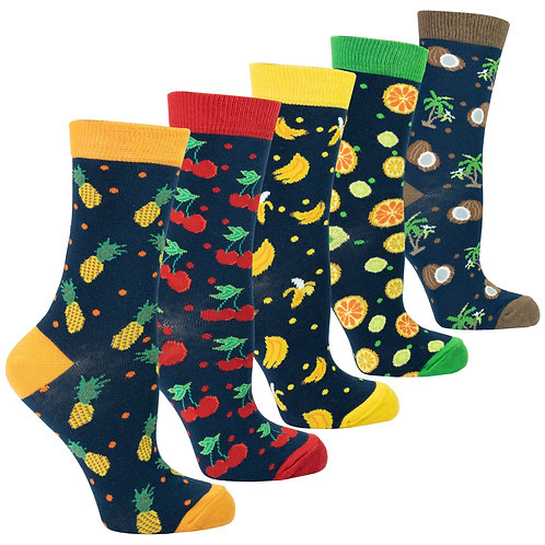 Women's Cheerful Fruits Socks Set