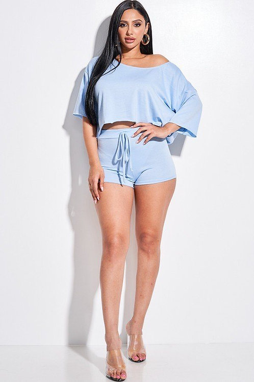 FRENCH TERRY SLOUCHY TOP & SHORTS 2PC ST