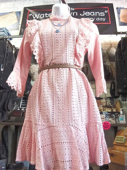 3/4Ruffled Sleeved Textured Dress