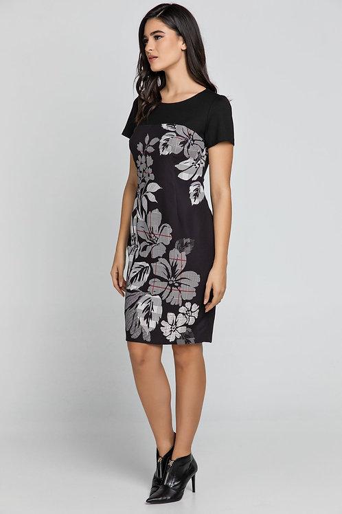 Black Floral Dress by Conquista