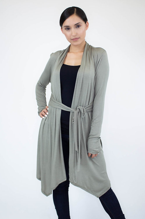 Light Weight Waist Tie Cardigan