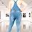 Thumbnail: Distressed Denim Skinny Overalls