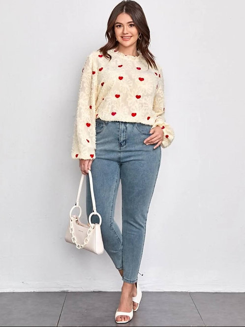 All Over Hearts Blouse