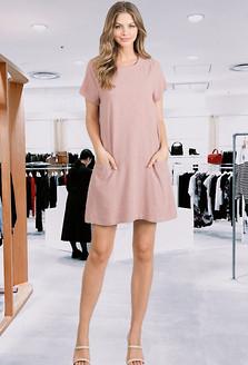 Linen Dress W/Pockets