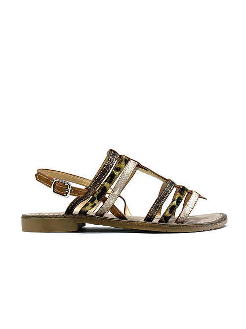 Multicolour Strappy Gladiator Camel