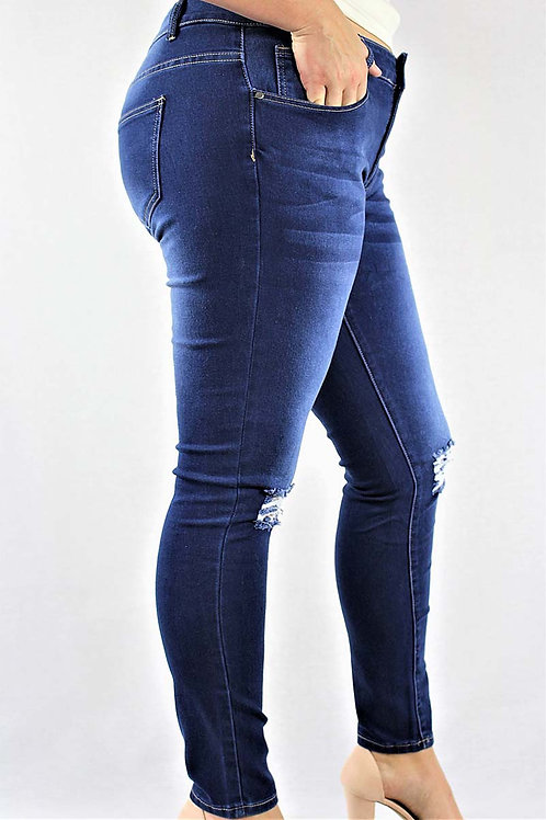 Distressed Ripped Dark Wash Jeans