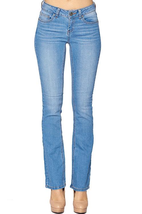 Slight Distressed Straight Leg Denim Jean