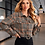 Thumbnail: Houndstooth Snap Button Crop Jacket
