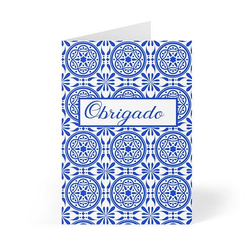 Azulejo Obrigado Note Card (8 pcs)