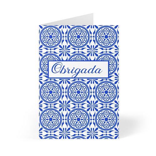 Azulejo Obrigada Note Card (8 pcs)