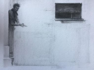 Carboncillo sobre papel. 29,7x21cm