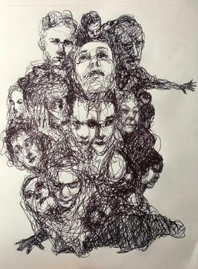 Boligrafo sobre papel. 21x29,7cm