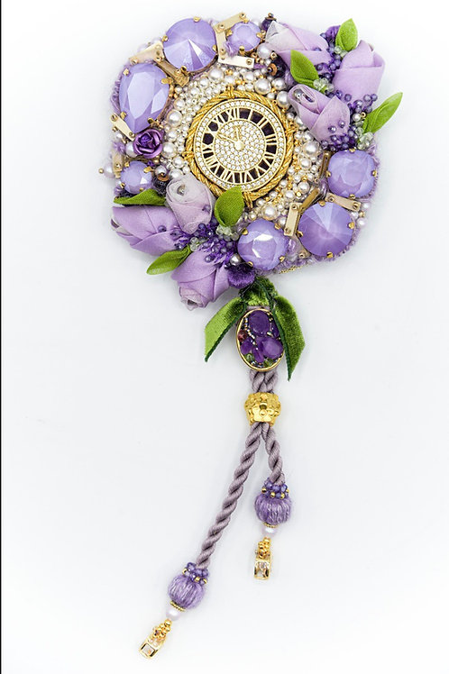 Lilac Flowers Brooch