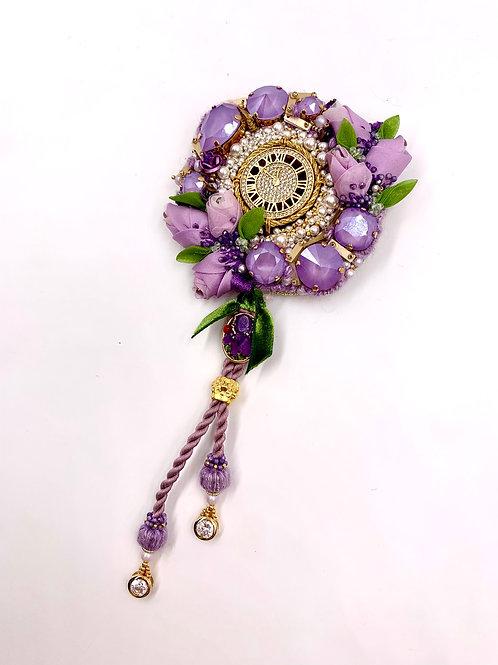 Lilac Flowers Brooch