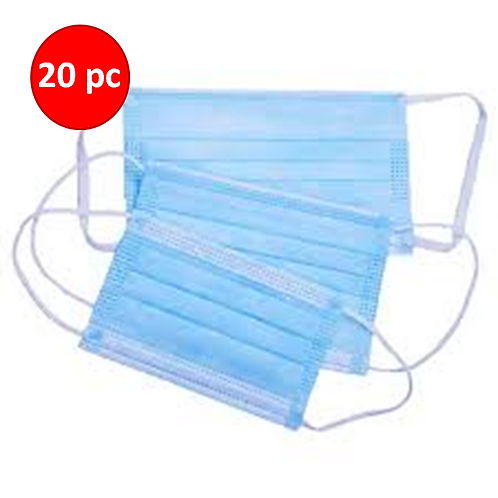 Surgical Mask 3 Ply x 20pc