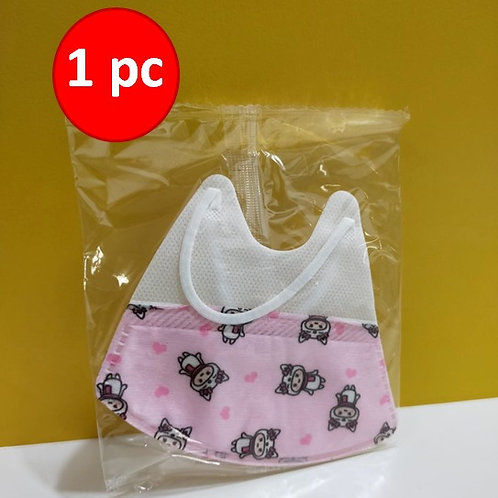 Mask Pleated Earloops 3 Ply Child Size Pink x 1pcs