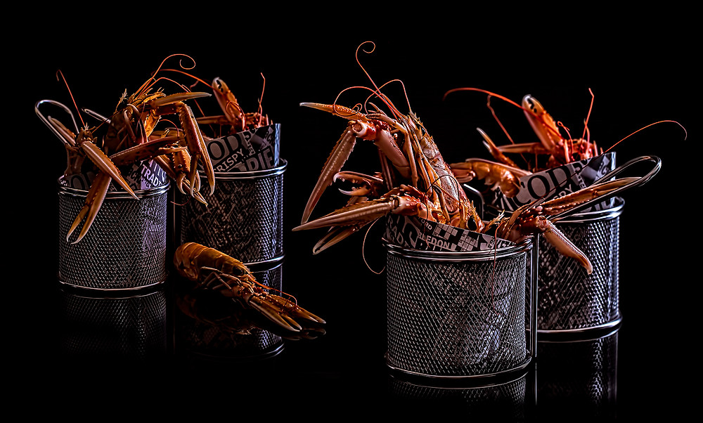 Langoustine Marks and Spencer food portraiture