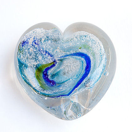 Glass Heart With Ashes