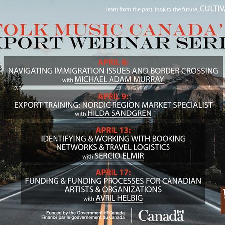 Folk Music Canada's Export Webinar Series