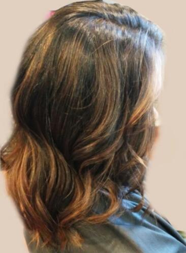 Dark Brown Color with Carmel Balayage