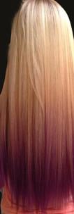 Purple and Blonde Color melt