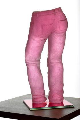 """Sculpture Résine Série Ma Vie en Jeans """" Séduction """""""